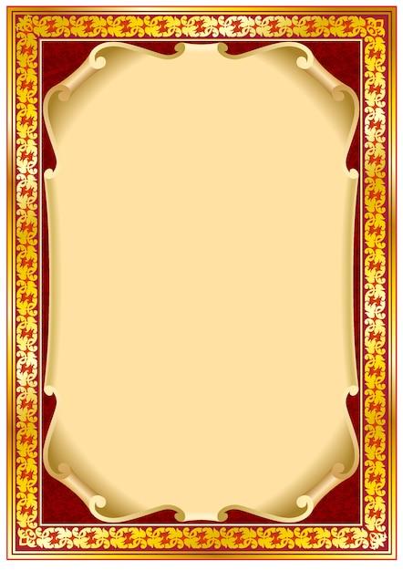 Bordure de cadre vintage coloré. Vecteur Premium