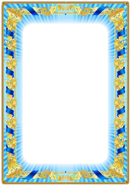 bordure de cadre vintage rigide pour dipl u00f4me ou certificat vierge