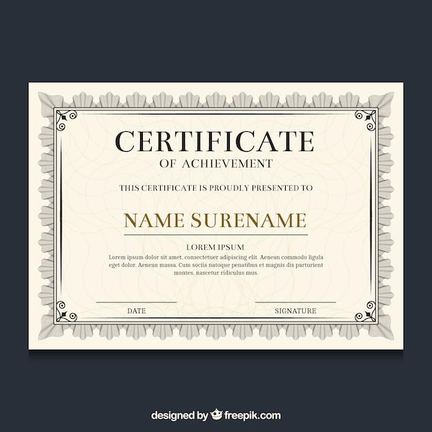 Bordure de certificat ornemental Vecteur gratuit