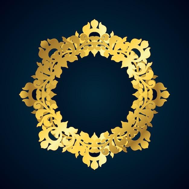 Bordure dorée décorative Vecteur gratuit