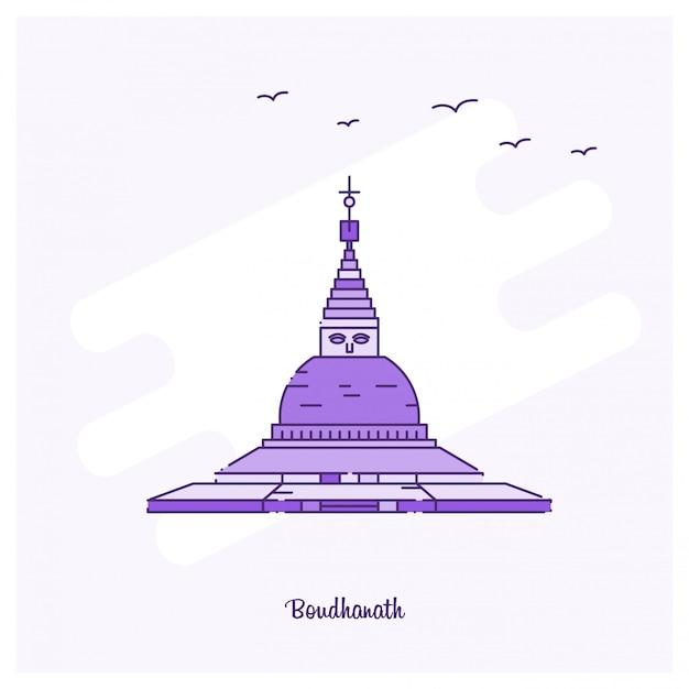Boudhanath point de repère Vecteur gratuit