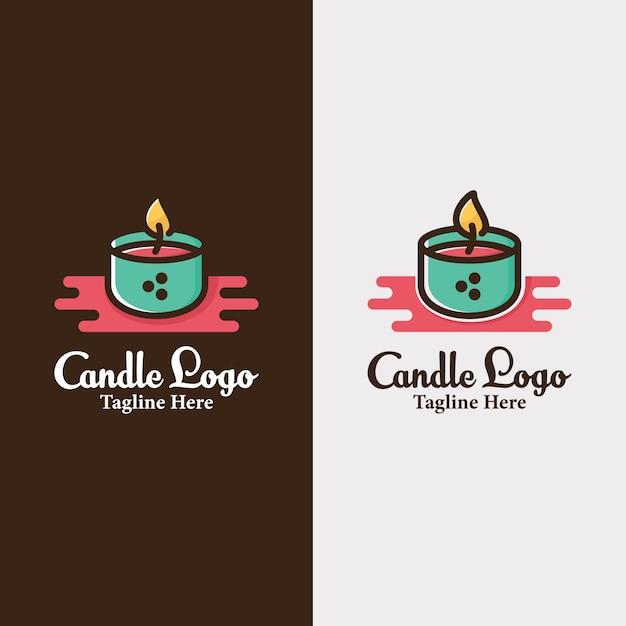 Bougie Bougies Création De Logo Vecteur Premium