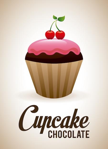 Boulangerie sur illustration beige Vecteur gratuit