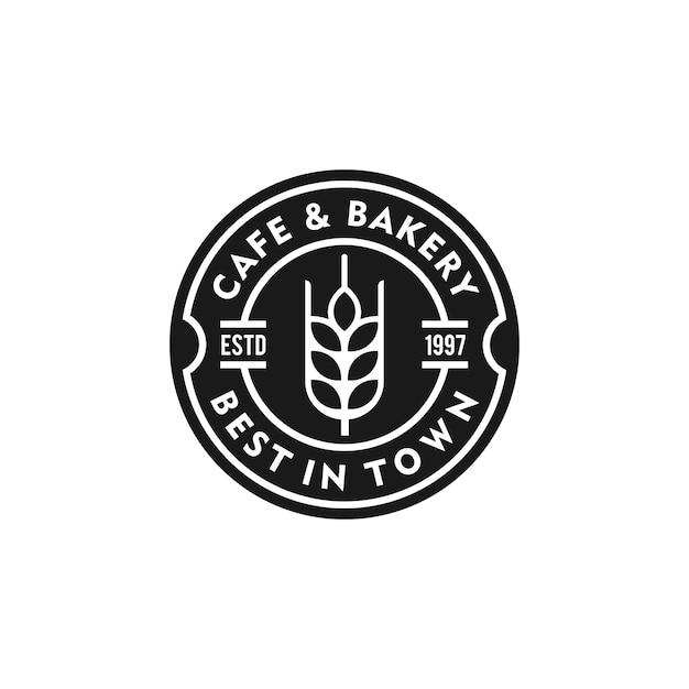 Boulangerie logo vintage emblème premium qualité vecteur isolé illustration illustration Vecteur Premium