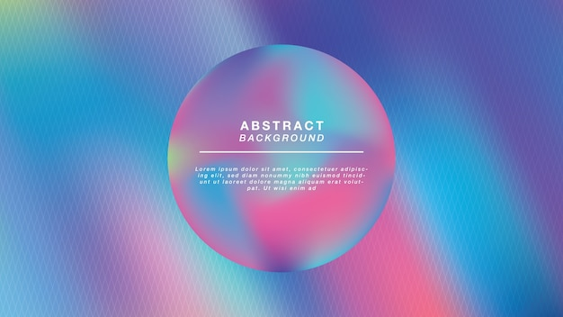Boule holographique abstrait Vecteur Premium