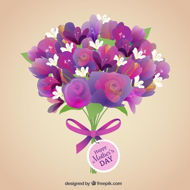 bouquet de fleurs pour la f te des m res t l charger des vecteurs premium. Black Bedroom Furniture Sets. Home Design Ideas