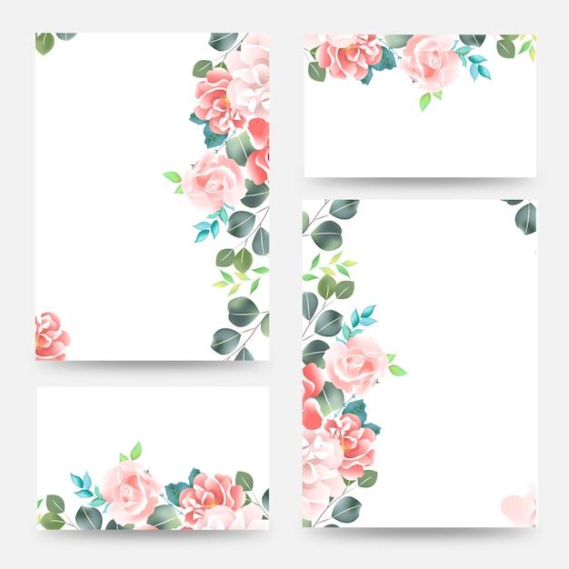 Bouquet de fleurs printanier coloré. modèle de carte invitation mariage mariage événement. Vecteur Premium