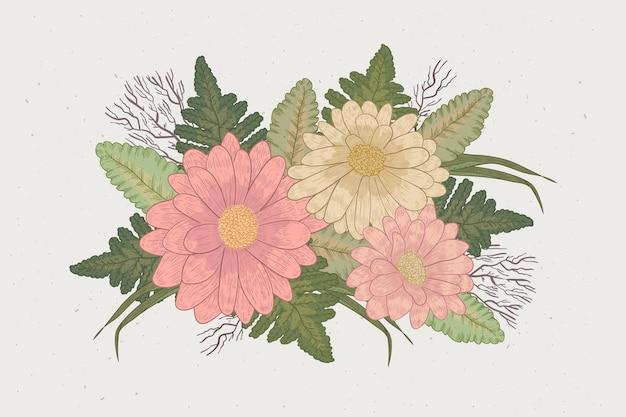 Bouquet Floral Vintage Vecteur gratuit
