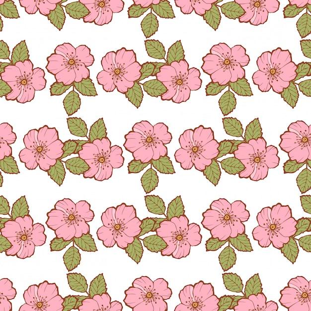 Bouquets De Fleurs Modèle Sans Couture Vecteur Premium