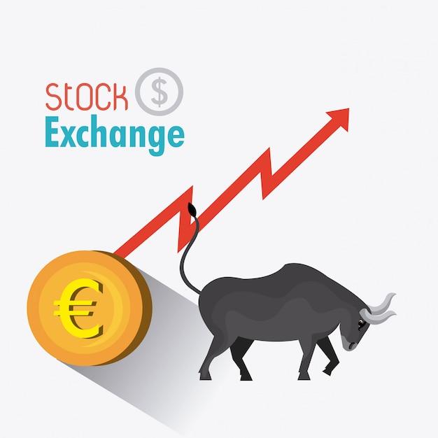 Bourse des affaires Vecteur Premium