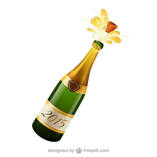 Bouteille De Champagne Dessin bouteille de champagne vecteur | télécharger des vecteurs gratuitement