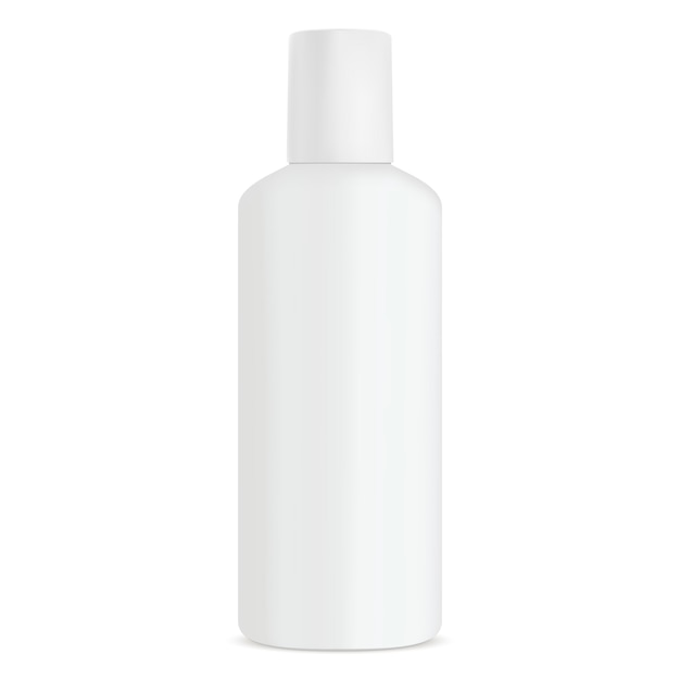 Bouteille cosmetic shampoo white produit Vecteur Premium