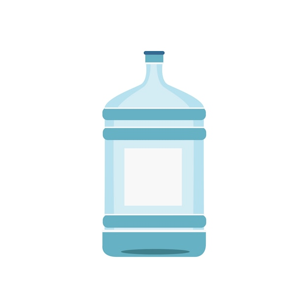 Bouteille d'eau isolée sur illustration blanche Vecteur gratuit