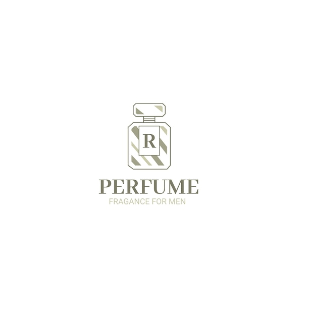 Bouteille De Logo D'entreprise De Parfum Vecteur gratuit