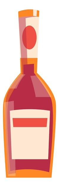 Bouteille Originale Pour Boisson Alcoolisée Vecteur gratuit