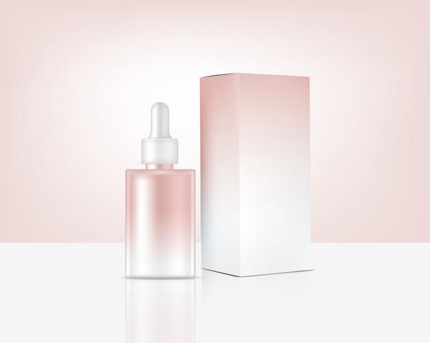 Bouteille De Parfum Réaliste Maquette Vecteur Premium
