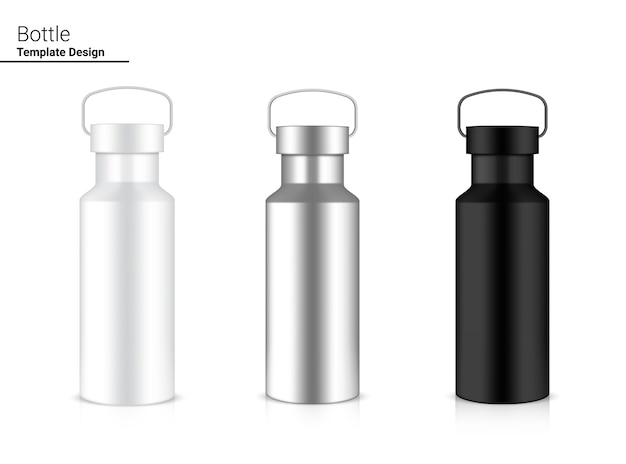 Bouteille Shaker En Plastique Réaliste 3d Pour L'eau Et La Boisson. Conception De Concept De Vélo Et De Sport. Vecteur Premium