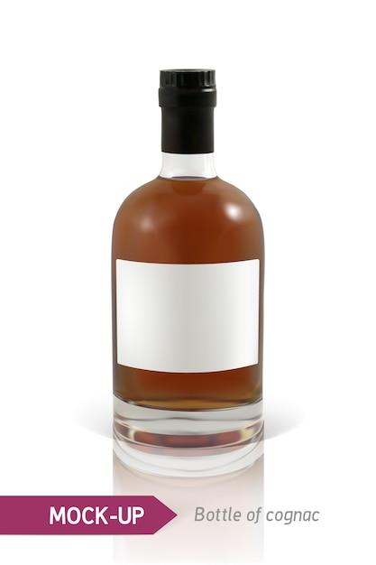 Bouteilles De Cognac Vecteur Premium