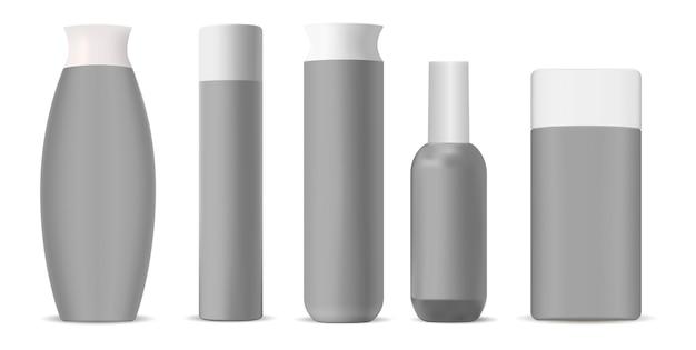 Bouteilles cosmétiques Vecteur Premium