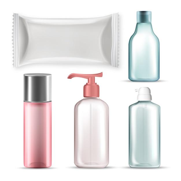 Bouteilles Et Emballage En Plastique Vecteur Premium