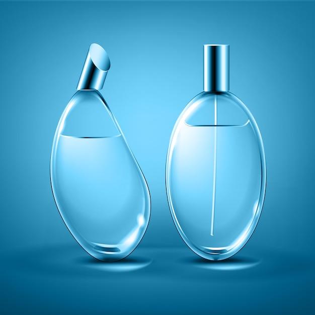 Bouteilles De Parfum Différentes Formes Vecteur Premium