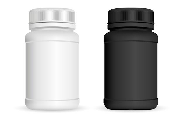 Bouteilles de pilules Vecteur Premium