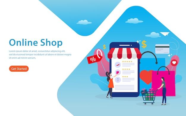 Boutique en ligne Vecteur Premium