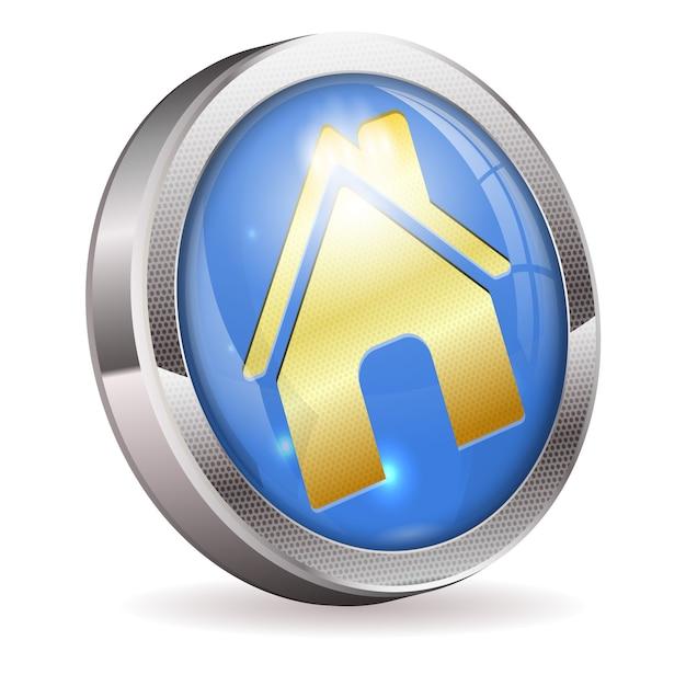 Bouton home Vecteur Premium
