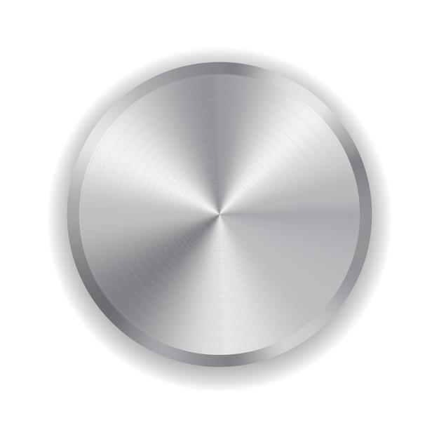 Bouton en métal pour l'électronique domestique isolé sur blanc Vecteur Premium