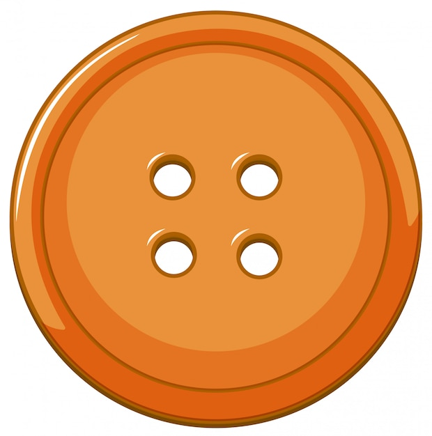 Bouton orange isolé Vecteur gratuit