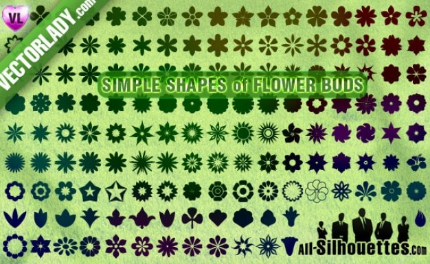 boutons de fleurs, des cliparts Vecteur gratuit