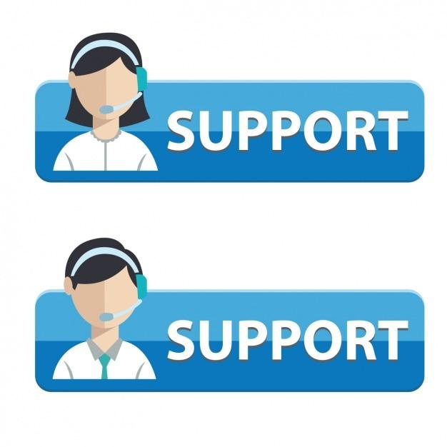 Boutons pour soutenir Vecteur gratuit