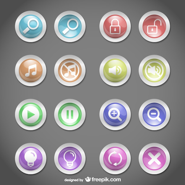 boutons web design rond