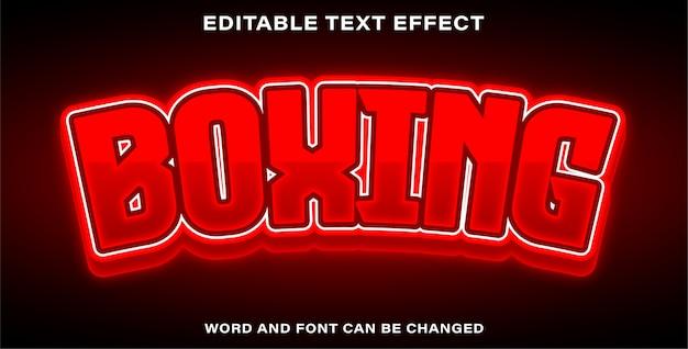 Boxe D'effet De Texte Modifiable Vecteur Premium