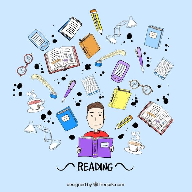 boy lecture d u0026 39 un livre
