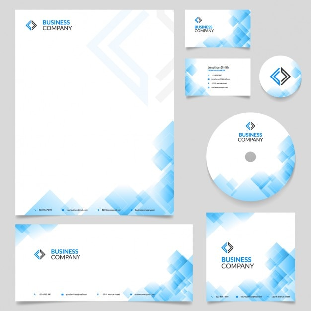 Branding identity template entreprise vecteur Vecteur gratuit