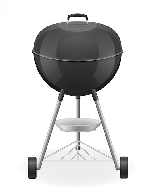 Brasier pour barbecue Vecteur Premium