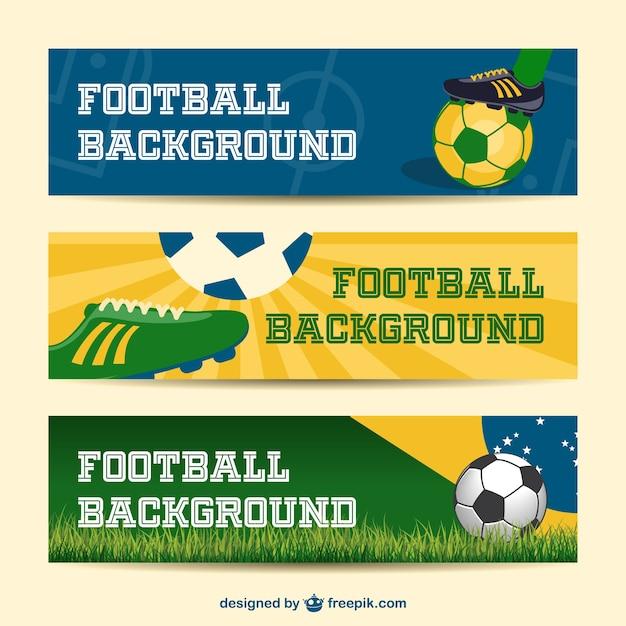 Brésil bannières vecteur collecte d'événements de football 2014 Vecteur gratuit