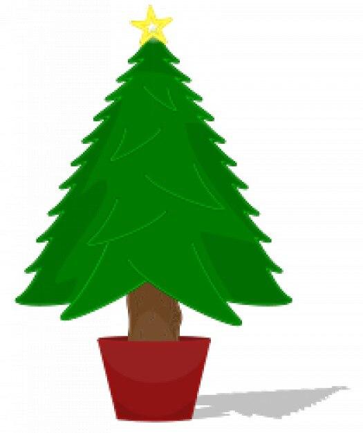 Brillant arbre de noël Vecteur gratuit