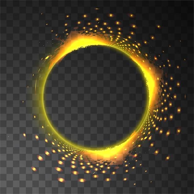Brillant fond circulaire lumineux Vecteur gratuit