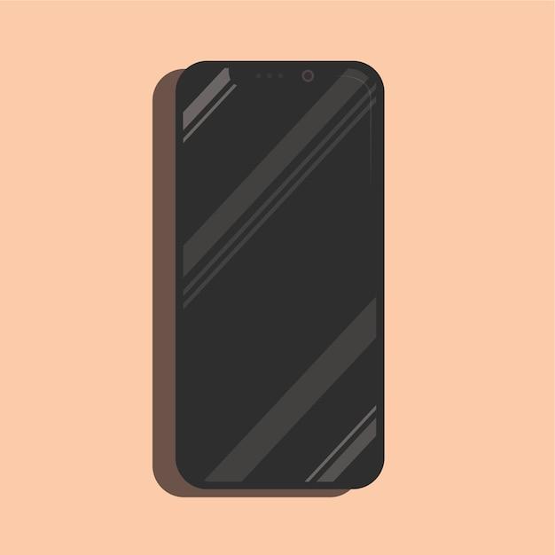 Brillant, iphone, x, smartphone, maquette, réaliste, vecteur Vecteur Premium