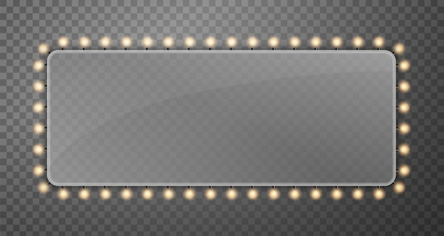 Briller les ampoules de bannière bannière ampoules. Vecteur Premium