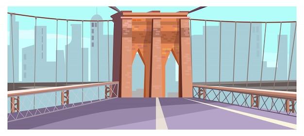 Brique, arc, de, ville, pont, illustration Vecteur gratuit