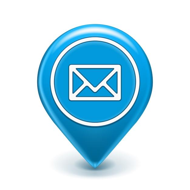 Broche D'icône E-mail Isolée Vecteur gratuit
