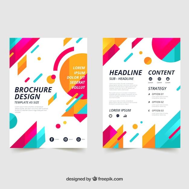 Brochure D'affaires Abstrait En Taille A5 Vecteur gratuit