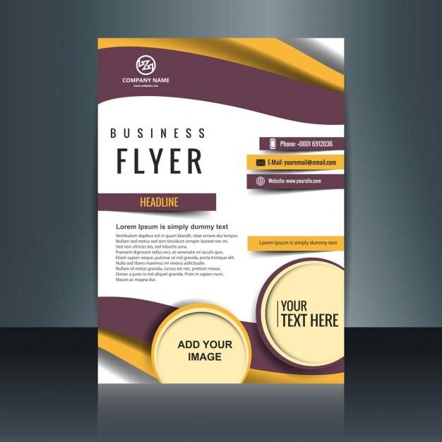 Brochure d'affaires colorful Vecteur gratuit
