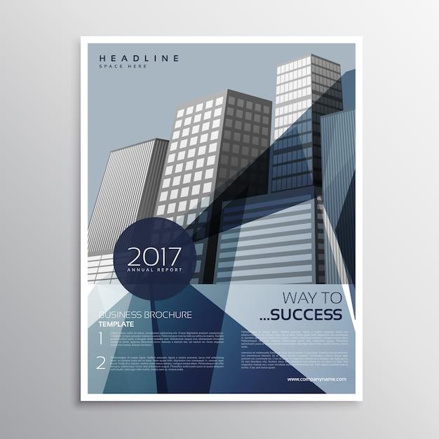 Brochure d'affiches d'entreprise prospectus d'entreprise modèle de conception en taille a4 en couleur bleue Vecteur gratuit