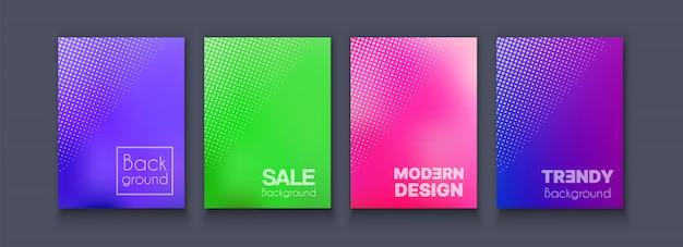 Brochure bannière set flyer de collection Vecteur Premium
