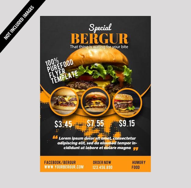 Brochure Burger Vecteur Premium