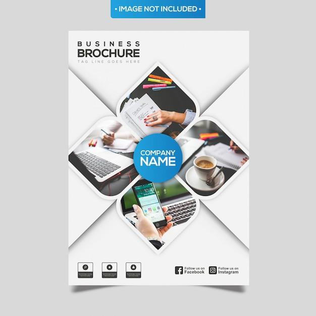 Brochure commerciale abstraite Vecteur Premium